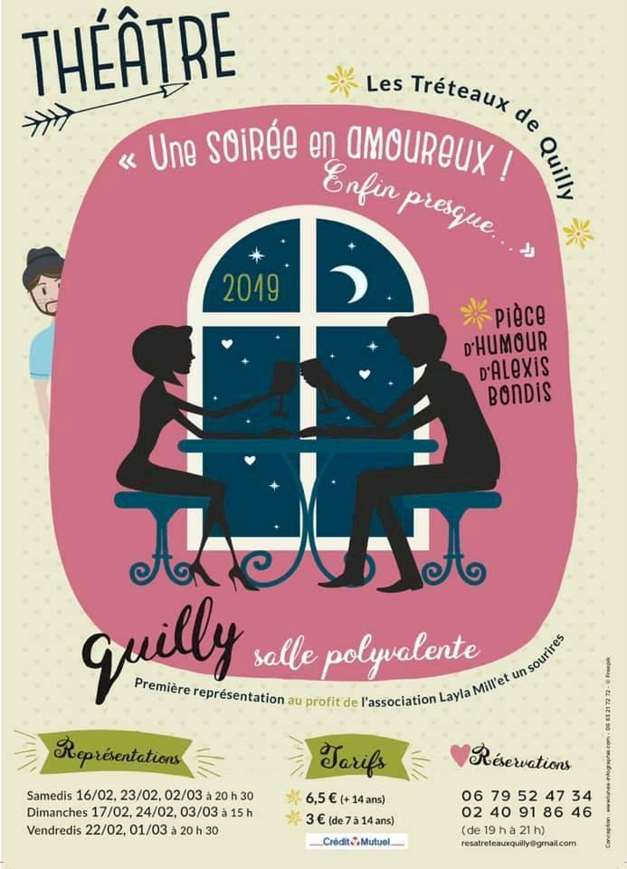 """Les tréteaux de Quilly présente """"Une soirée en amoureux... enfin presque"""""""