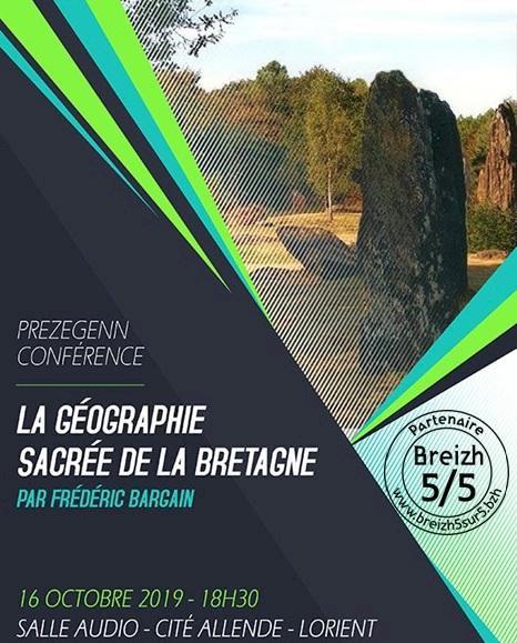 La géographie sacrée de la Bretagne, Frédéric Bargain, Lorient