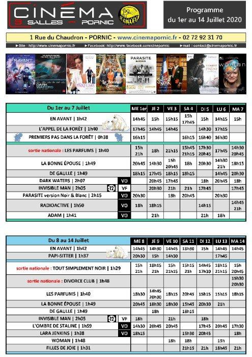 Programme du Cinéma Saint Gilles 3 salles du mercredi 1er juillet au mardi 14 juillet 2020 Munissez-vous d'un masque et respecter les gestes barrières !