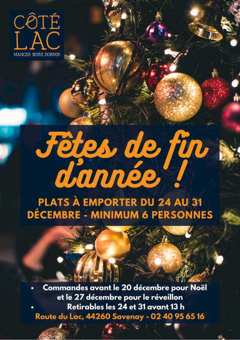 Menus de Côté Lac pour les fêtes de fin d'année ! ✨