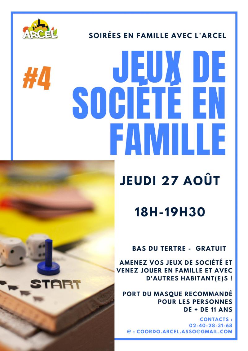 Soirée jeux en famille #4, association Arcel