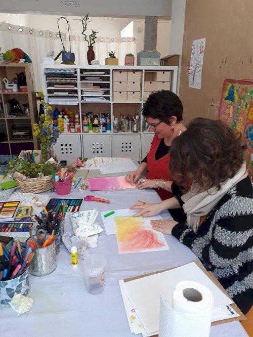 Au fil de la trace : atelier journal créatif proposé par P'tites graines de bonheur