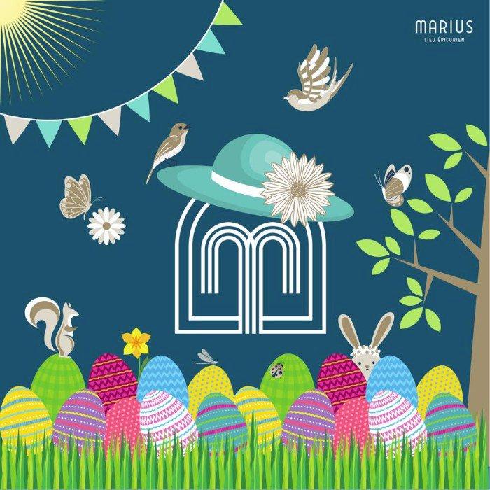Les menus de Pâques de Marius du 2,3,4 au 5 avril 2021