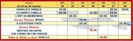 Programme du cinéma Saint-Joseph du 22 au 28 janvier 2020