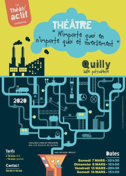 Les jeunes du Théatractif Quilly ont inventé et créé une MACHINE EXTRAORDINAIRE !!