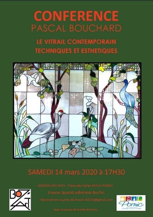 """Le collectif BoZ'ArT vous propose une conférence """"LE VITRAIL CONTEMPORAIN: TECHNIQUES ET ESTHÉTIQUES"""""""