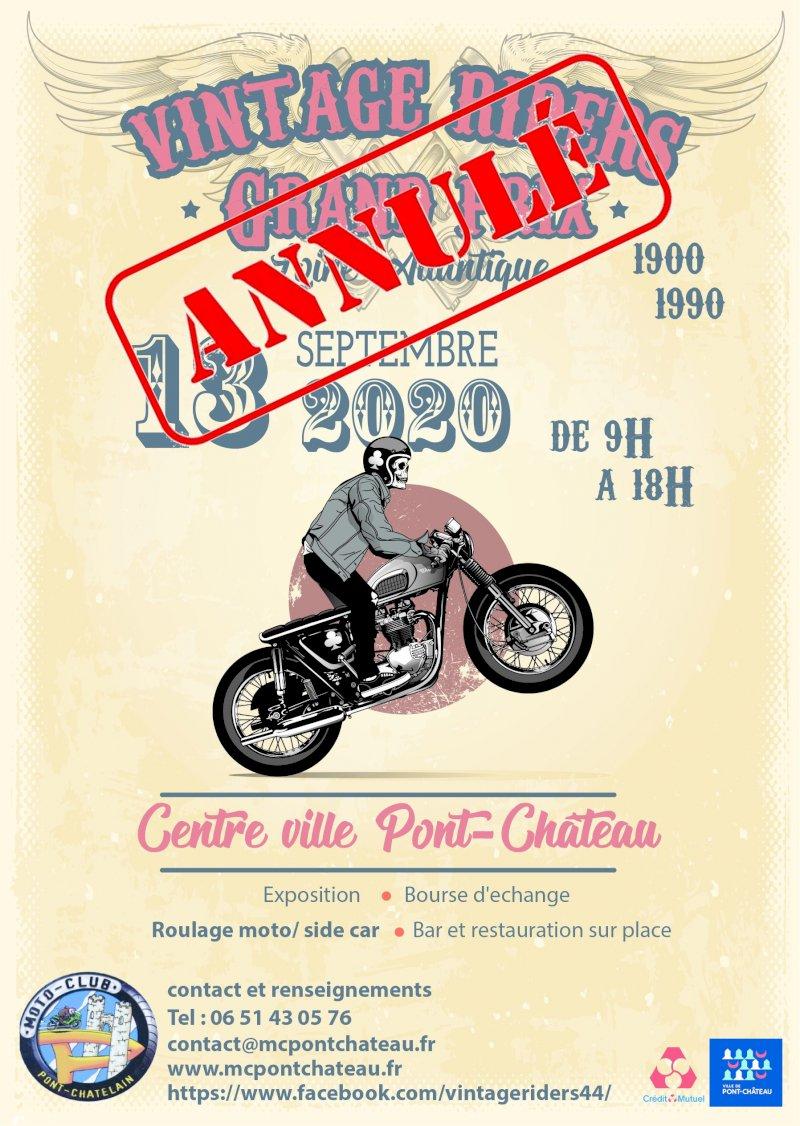 Vintage riders : annulation de l'édition 2020
