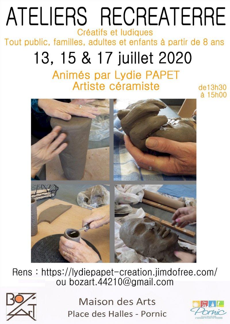 Récréaterre : ateliers pour créer avec ses mains de façon ludique pour enfants et adultes