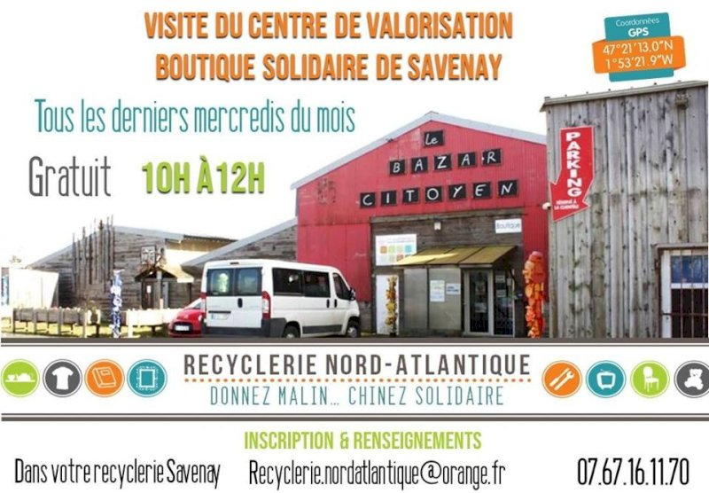 Visite de la recyclerie de Savenay
