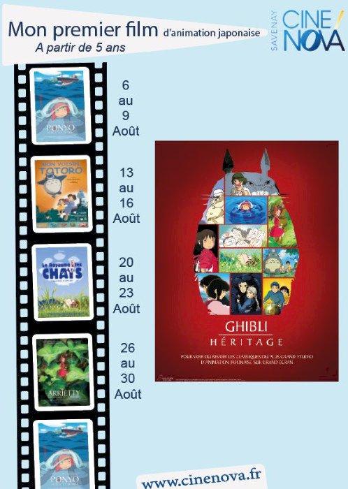 Semaine Studio Ghibli au Ciné Nova à Savenay