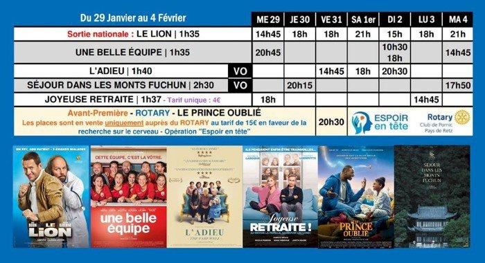 Programme du cinéma Saint Gilles Pornic