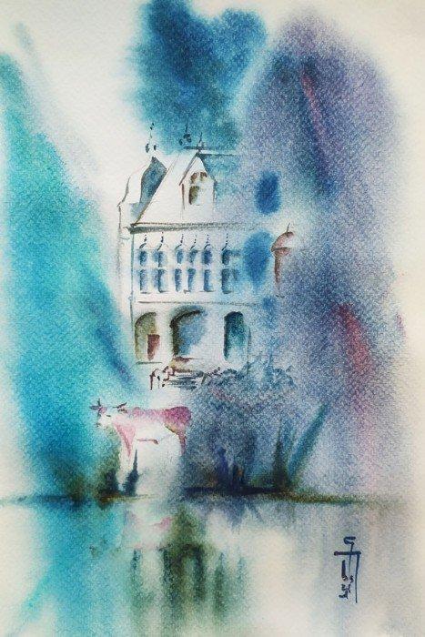 Stage d'Aquarelle : carnet de croquis : Les Folies Nantaises