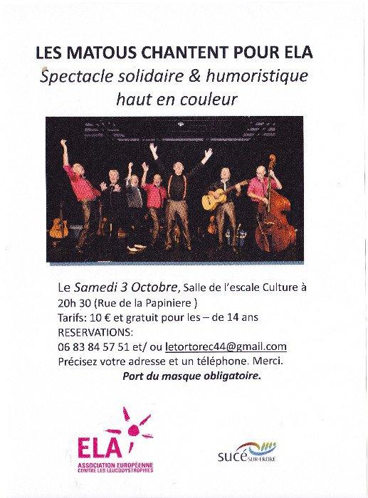 Concert pour ELA : Les Matous