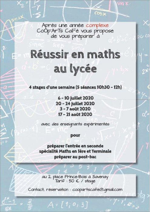 Stages de mathématiques