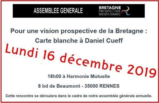AG Bretagne Prospective : Carte blanche à Daniel Cueff