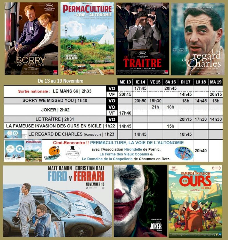 Programme du Cinéma Saint Gilles de Pornic