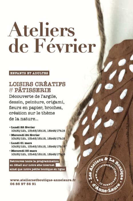 LES ATELIERS D'ANNE-LAURE : CREATIVITE EN LIEN AVEC LA NATURE