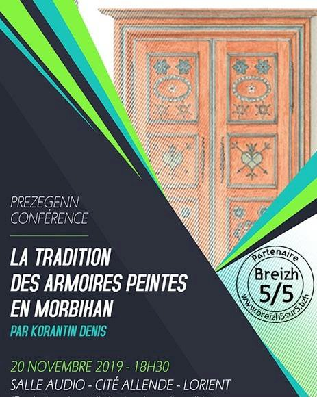 La tradition des armoires peintes en Morbihan, Korantin Denis, Lorient