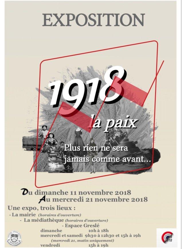 Expositions. 1918: la paix. Plus rien ne sera jamais comme avant.