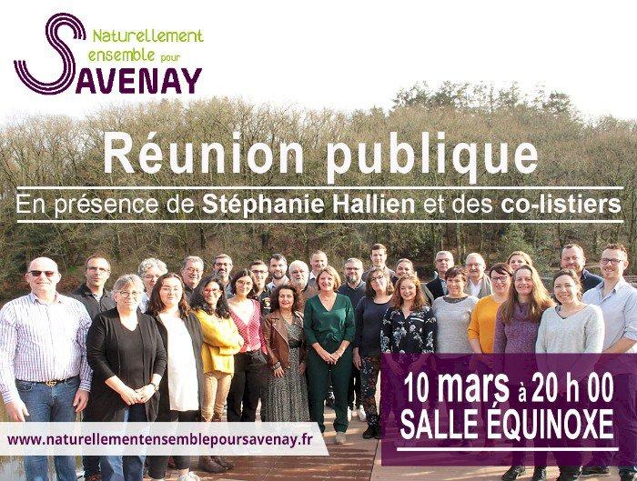 Réunion publique de la liste Naturellement Ensemble pour Savenay