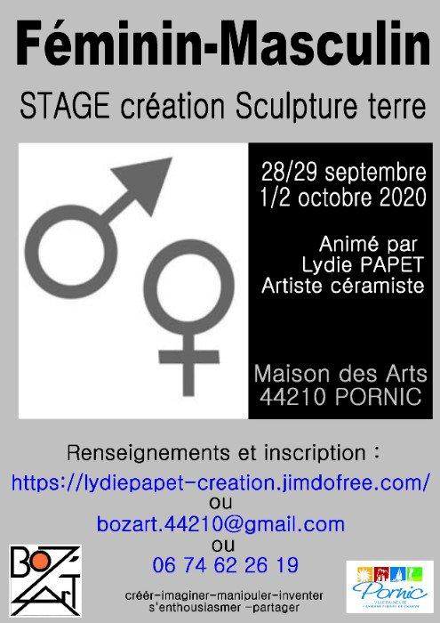 """Stage de Création en Terre """"Féminin - Masculin"""""""