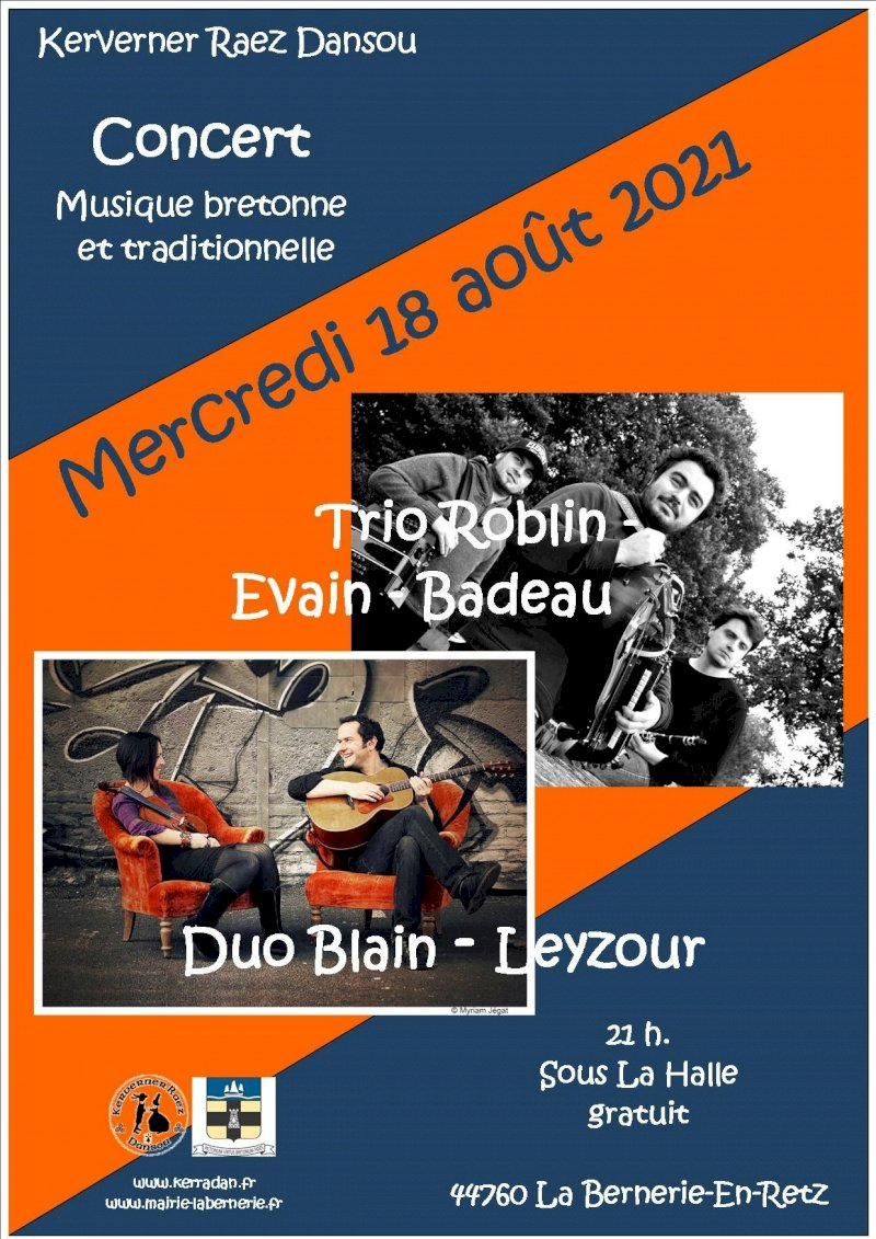 Concert Duo Blain-Leyzour et Trio Roblin-Evain-Badeau