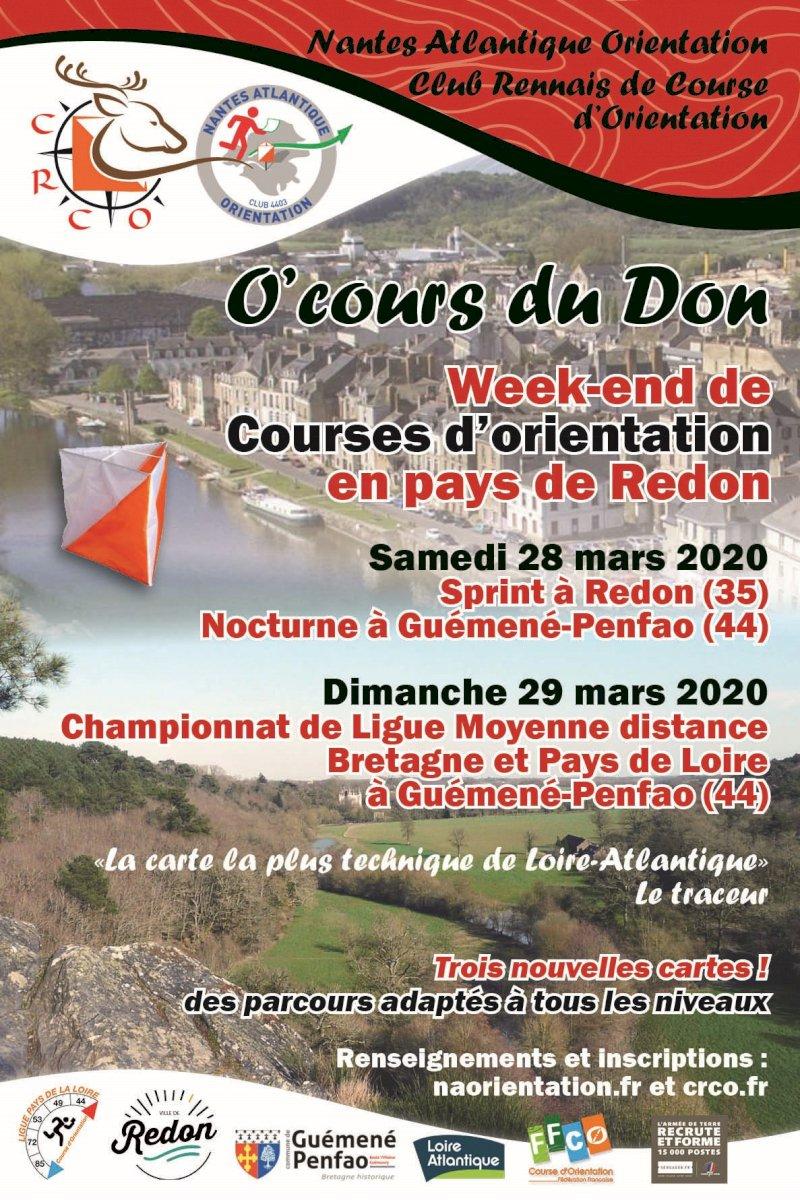 Course d'orientation en Pays de Redon : O'Cours du don