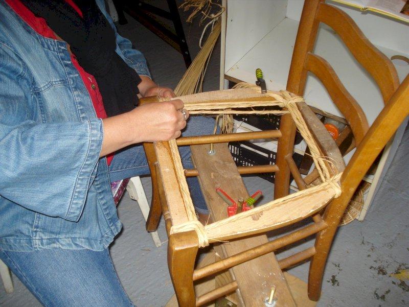 Stage d'initiation au rempaillage de chaise