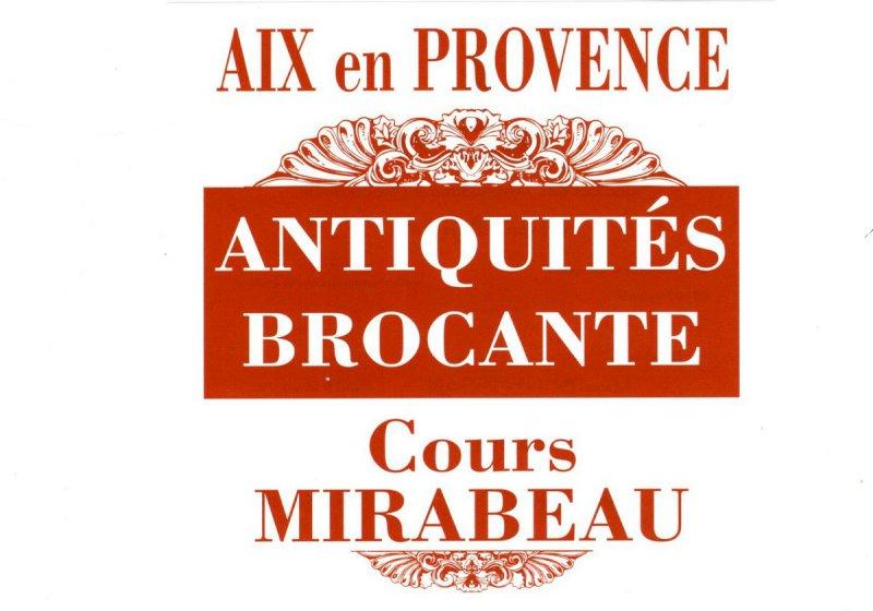 Antiquités et brocantes sur le cours Mirabeau