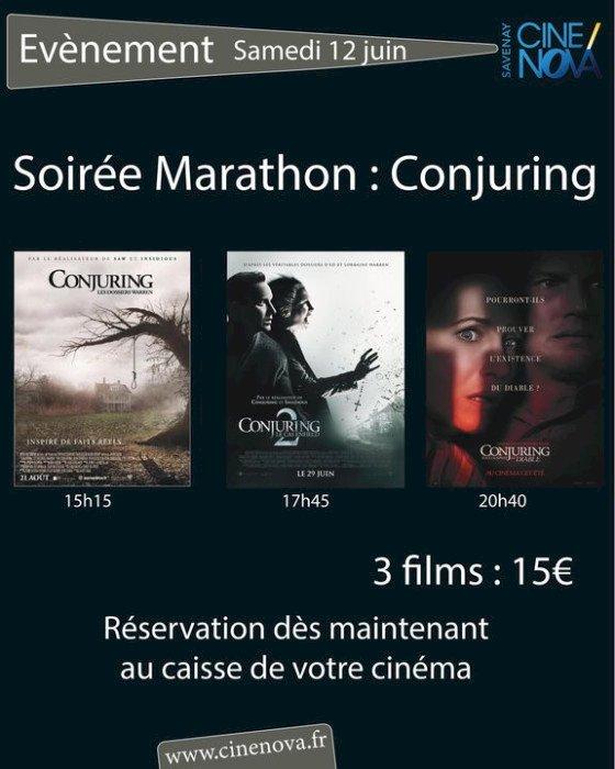 Soirée Marathon : Conjuring