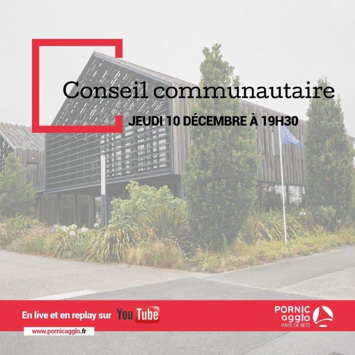 [Conseil communautaire en live] Le prochain Conseil communautaire se déroulera le jeudi 10 décembre 2020 à 19h30.
