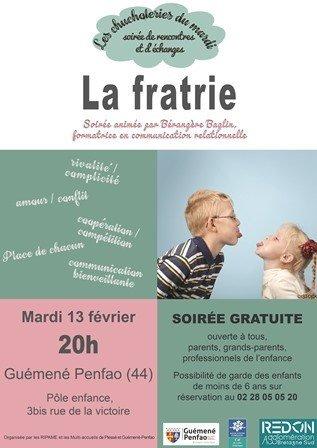 """Soirée d'échange sur la thématique """"la Fratrie"""""""