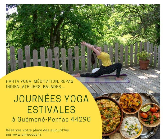 Journée Yoga et méditation, avec atelier cuisine indienne, balade nature...