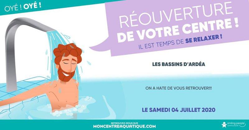 Réouverture le samedi 04 Juillet - Informations - Ardéa les bassins / Centre Aquatique