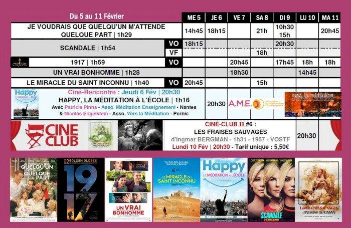 Du 5 au 11 février sur le grand écran du Saint-Gilles