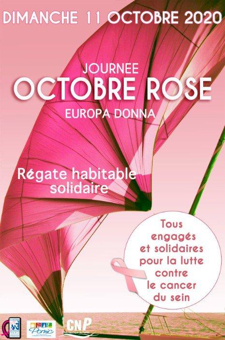 """Ce dimanche la Régate solidaire """"Octobre Rose"""" parrainée par la Ville de Pornic."""