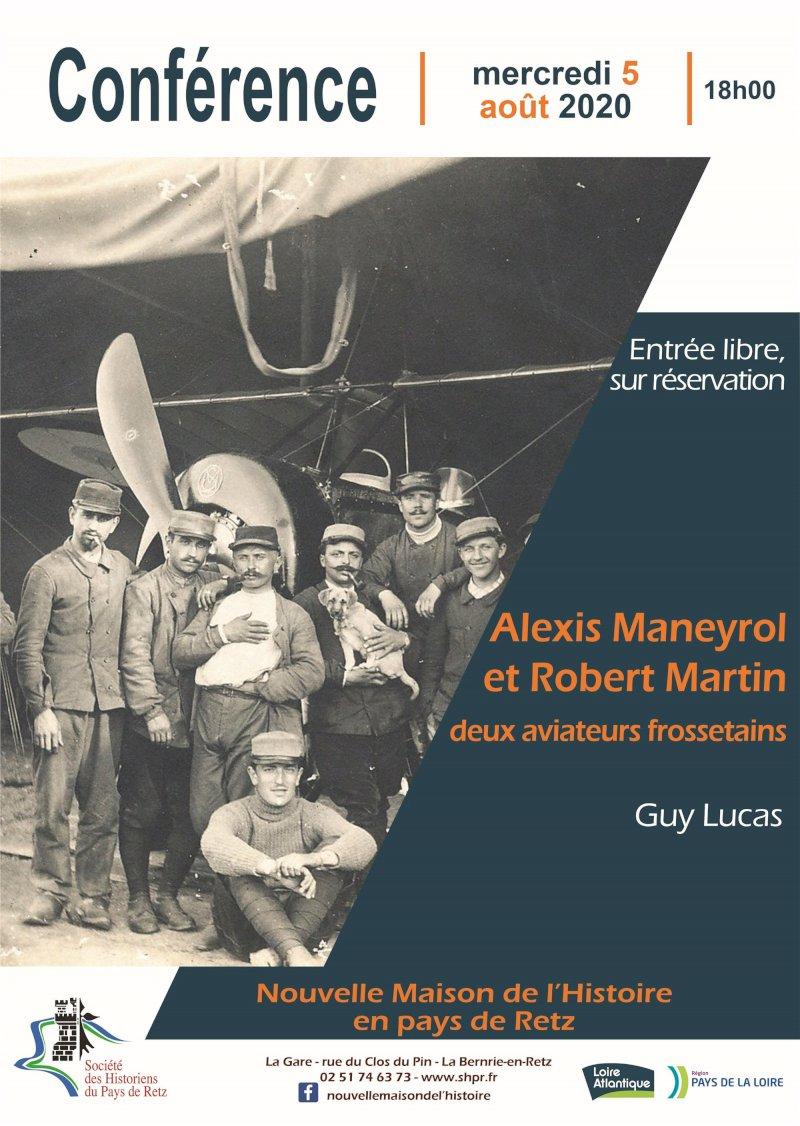 Alexis Maneyrol et Robert Martin, deux aviateurs frossetains