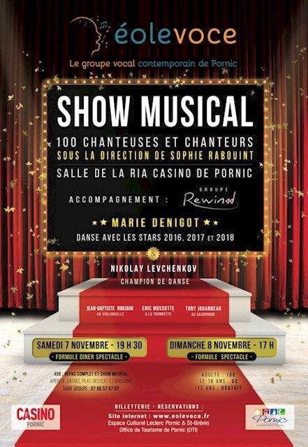 Show musical d'Éolevoce reporté les 5 & 6 juin 2021