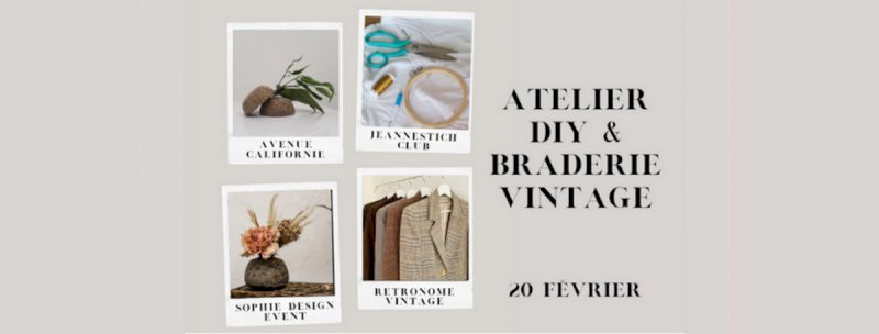 Atelier DIY et braderie vintage
