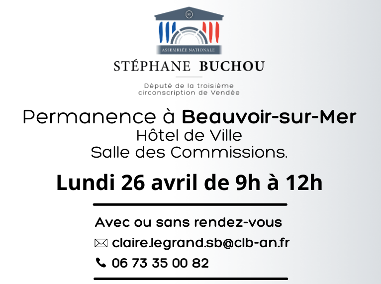 Stéphane Buchou : permanence parlementaire délocalisée à Beauvoir-sur-Mer