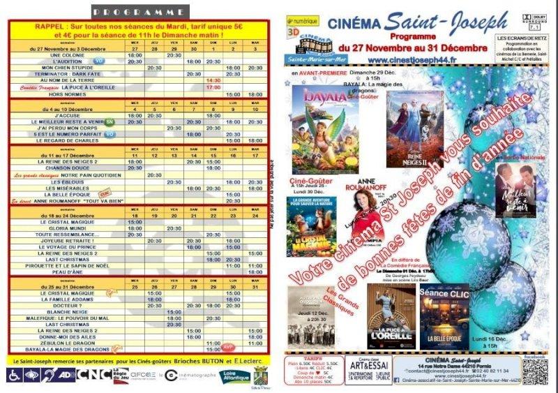 Programme du Cinéma Saint Joseph de Pornic