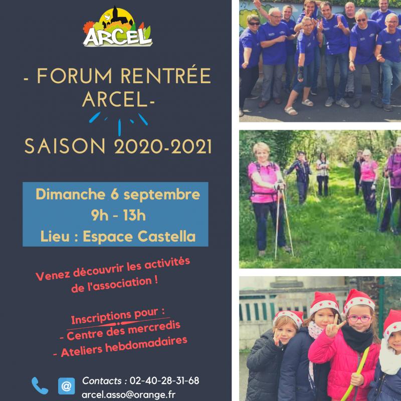 Forum de rentrée de l'Association Arcel, activités et projets 2020-2021