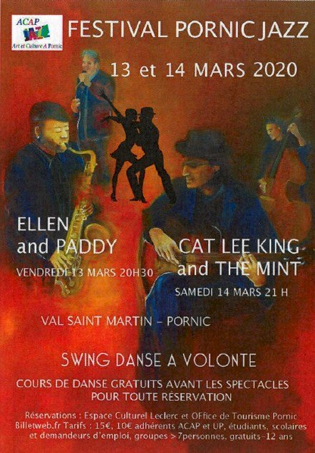 Concert  Festival Pornic Jazz 2020  Cat Lee King and the Mint