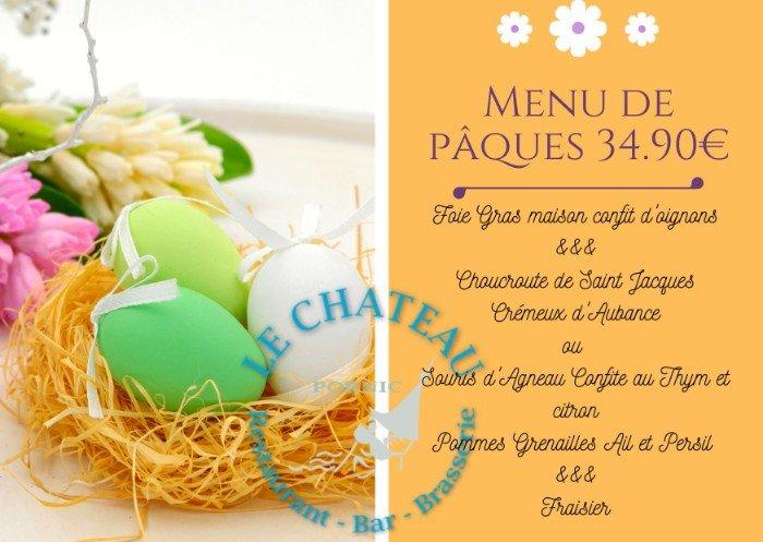 Le menu de Pâques du restaurant du château
