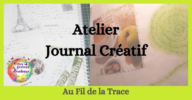 Au fil de la trace : atelier journal créatif