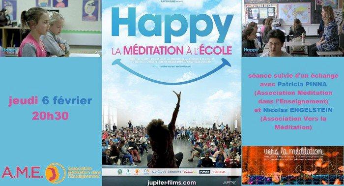 Film-documentaire HAPPY, LA MÉDITATION A L'ECOLE