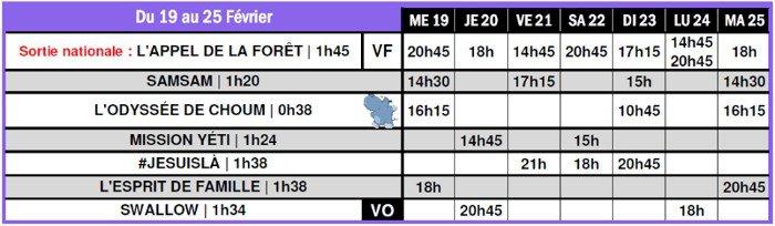 Programme du Cinémas associatif Saint-Gilles du 19 février au 25 février 2020