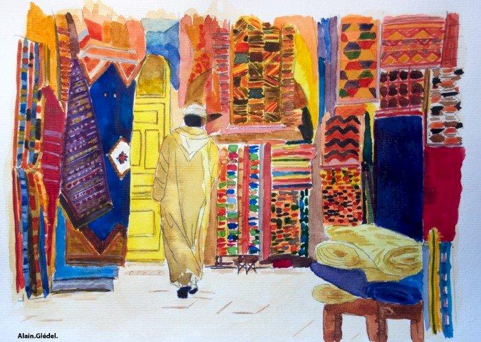 Exposition dessin peinture des adhérents de l 'association Vita Colora