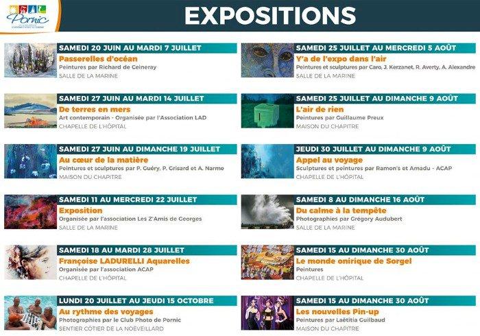 Les expositions de l'été du 20 juin au 30 août 2020 à Pornic