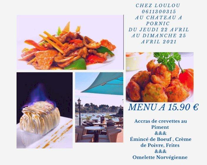 Le menu du restaurant du Château
